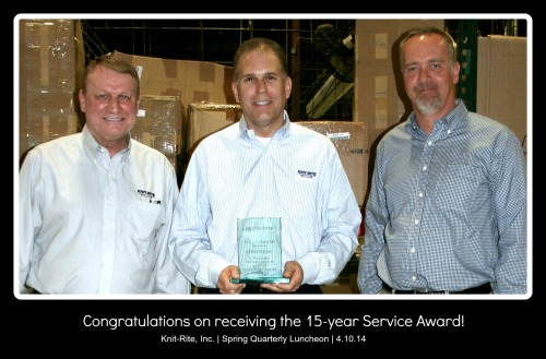 Chris Vering Receives 15-Year Service Award